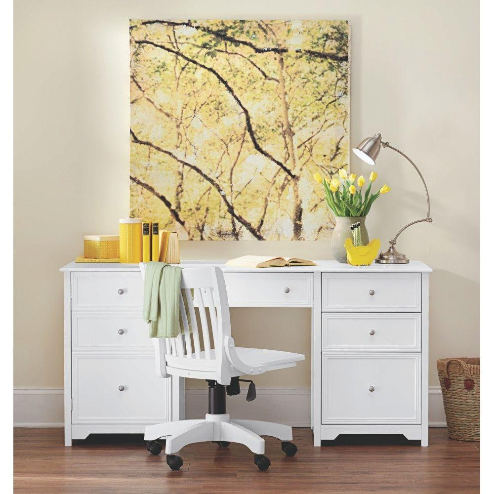Home Decorators Collection Oxford White Desk 0151200410 The Home Depot