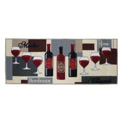 Wine Time 20 in. x 48 in. Textured Accent Kitchen Runner
