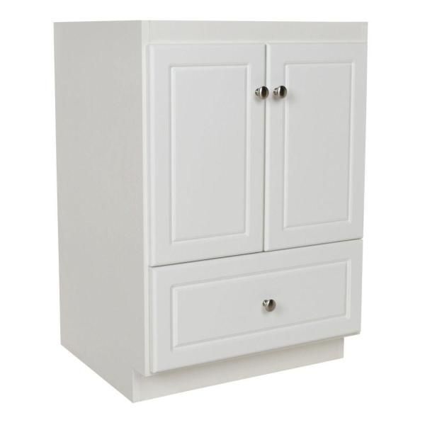Ultraline 24 in. W x 21 in. D x 34.5 in. H Vanity Cabinet Only in Satin White
