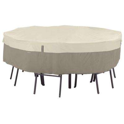 Belltown Medium Sidewalk Grey Round Table and Patio Chair Set Cover