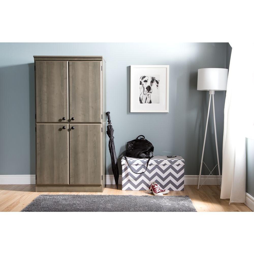 South Shore Morgan Gray Maple Storage Cabinet