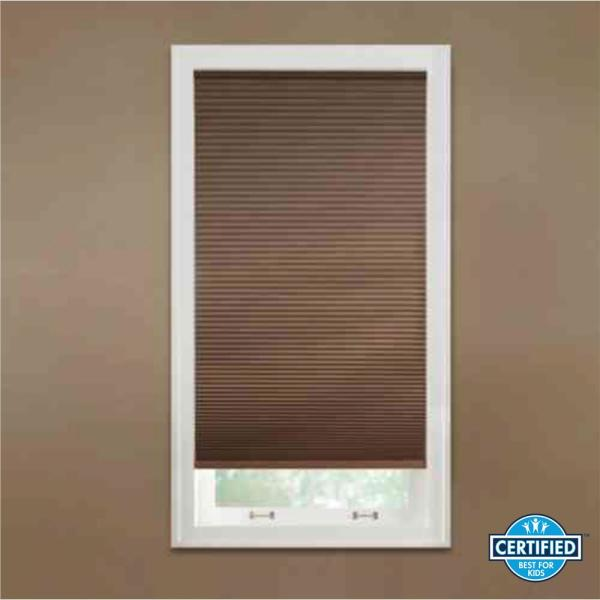 Home Decorators Collection Mocha 9 16 In Cordless Blackout Cellular Shade 70 In W X 64 In L Actual Size 69 625 In W X 64 In L 10793478930227 The Home Depot