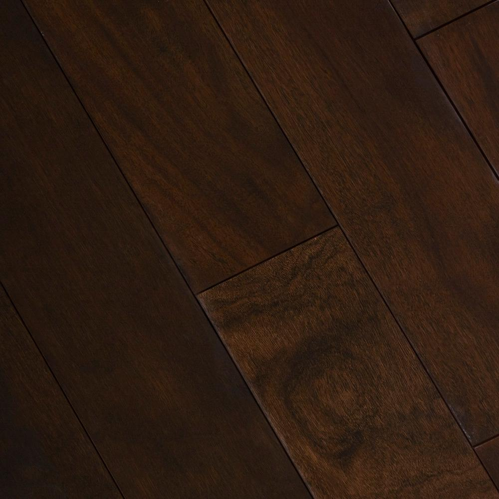 Home Legend Cocoa Acacia 1/2 In. Thick X 5 In. Wide X Varying Length Engineered Exotic Hardwood Flooring (26.25 Sq. Ft. / Case), Dark Brown