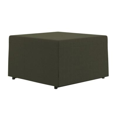 Sackler Folding Ottoman Sleeper Bed with Cover in Basil Gray Linen