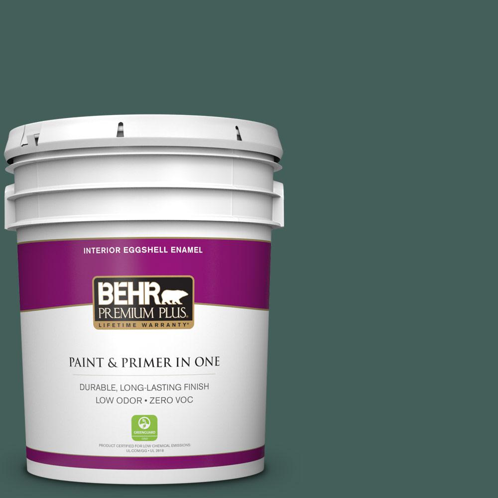 5 gal. #BIC-54 Vert Pierre Zero VOC Eggshell Enamel Interior Paint