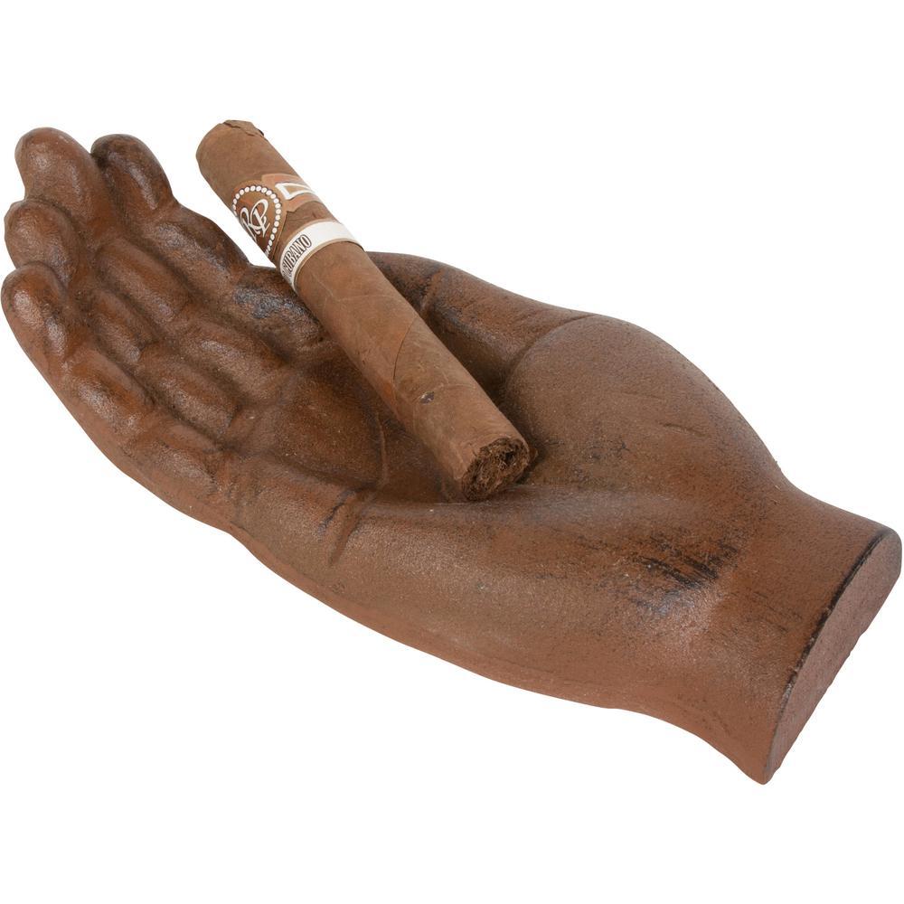 Metal Hand Shaped Cigar Holder and Ashtray