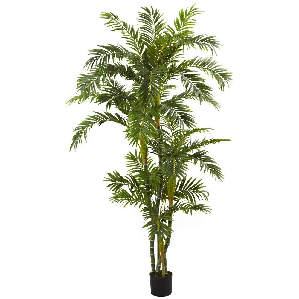 Nearly Natural 6 ft. Curvy Parlor Palm Silk Tree