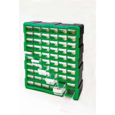 60-Compartment Small Parts Organize, Green or Black