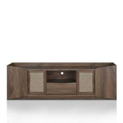 Cantwell Distressed Walnut Double Door TV Stand