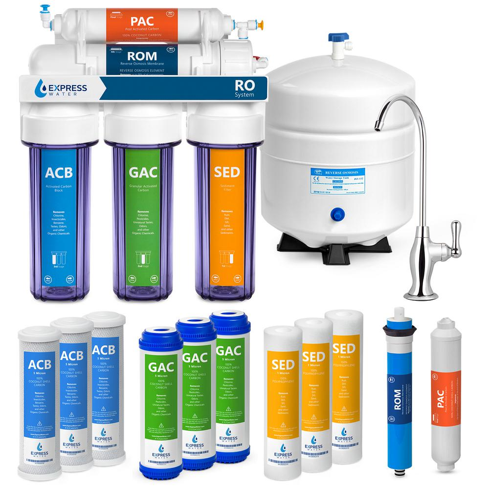 Under Sink Reverse Osmosis Water Filtration - 5 Stage w/ Faucet