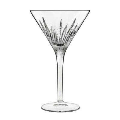 Mixology 7.25 fl. oz. Lead-Free Crystal Glass Martini or Cocktail Glass (4-Pack)
