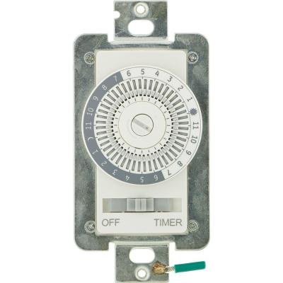 15 Amp 24-Hour Indoor  In-Wall Mechanical Timer Switch
