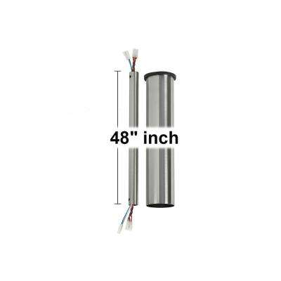 Minimalist 48 in. Brushed Steel Extension Downrod