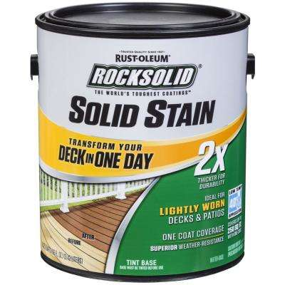 1 gal. White Exterior 2X Solid Stain