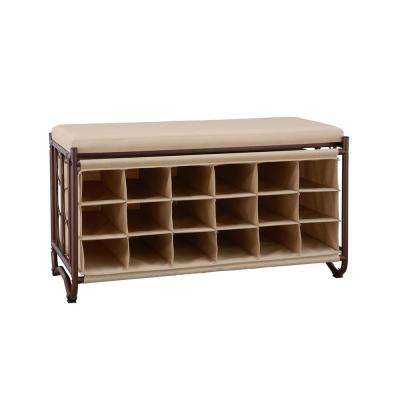 Exceptionnel Brown/Beige Shoe Storage Bench