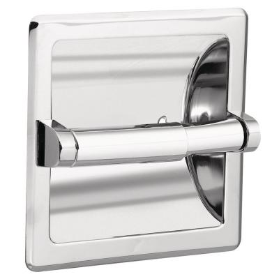 Recessed Toilet Paper Holder in Chrome with Matching Roller