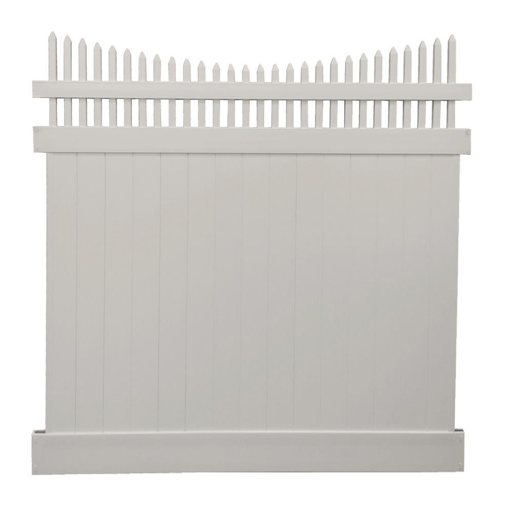 Halifax 7 ft. x 8 ft. Tan Vinyl Privacy Fence Panel