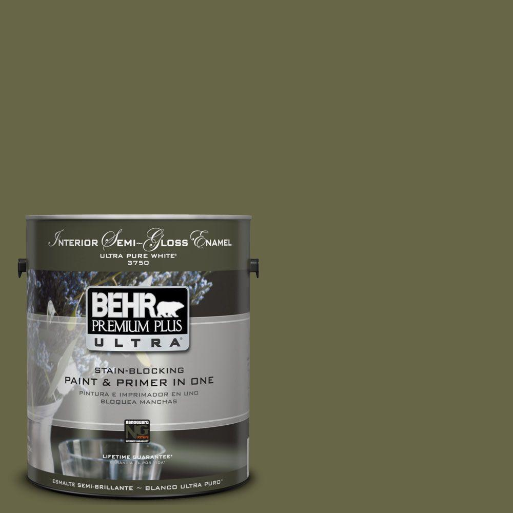 BEHR Premium Plus Ultra 1-gal. #UL200-22 Amazon Jungle Interior Semi-Gloss Enamel Paint
