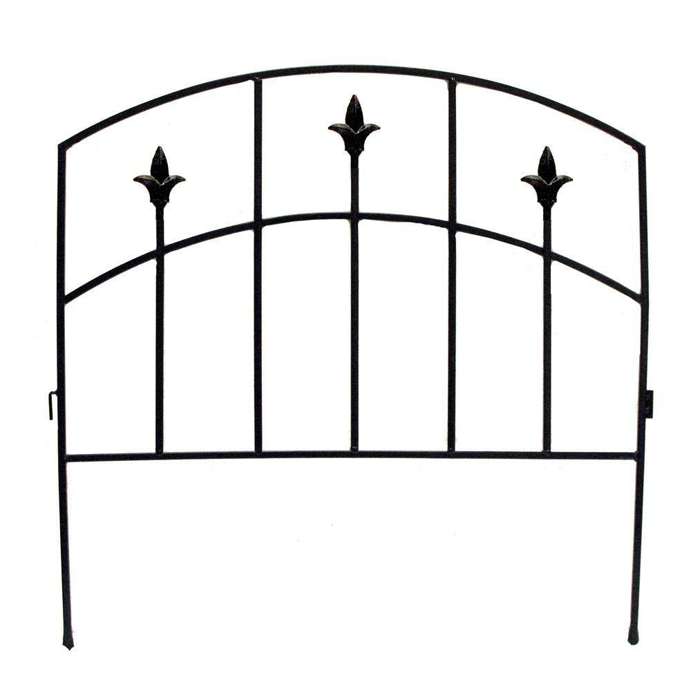 Vigoro Alexander 32 in. Steel Garden Fence
