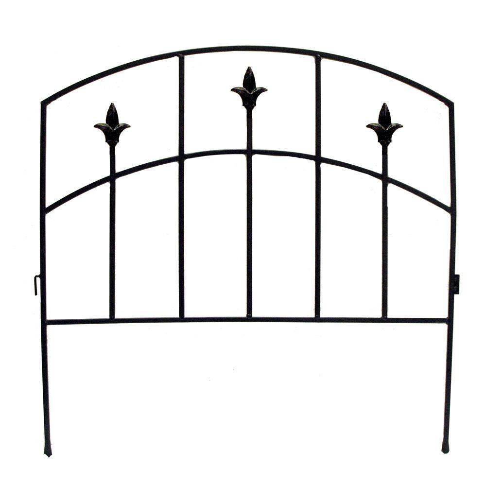 Alexander 32 in. Steel Garden Fence
