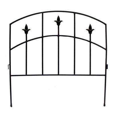 Alexander 32 in. Steel Garden Fence