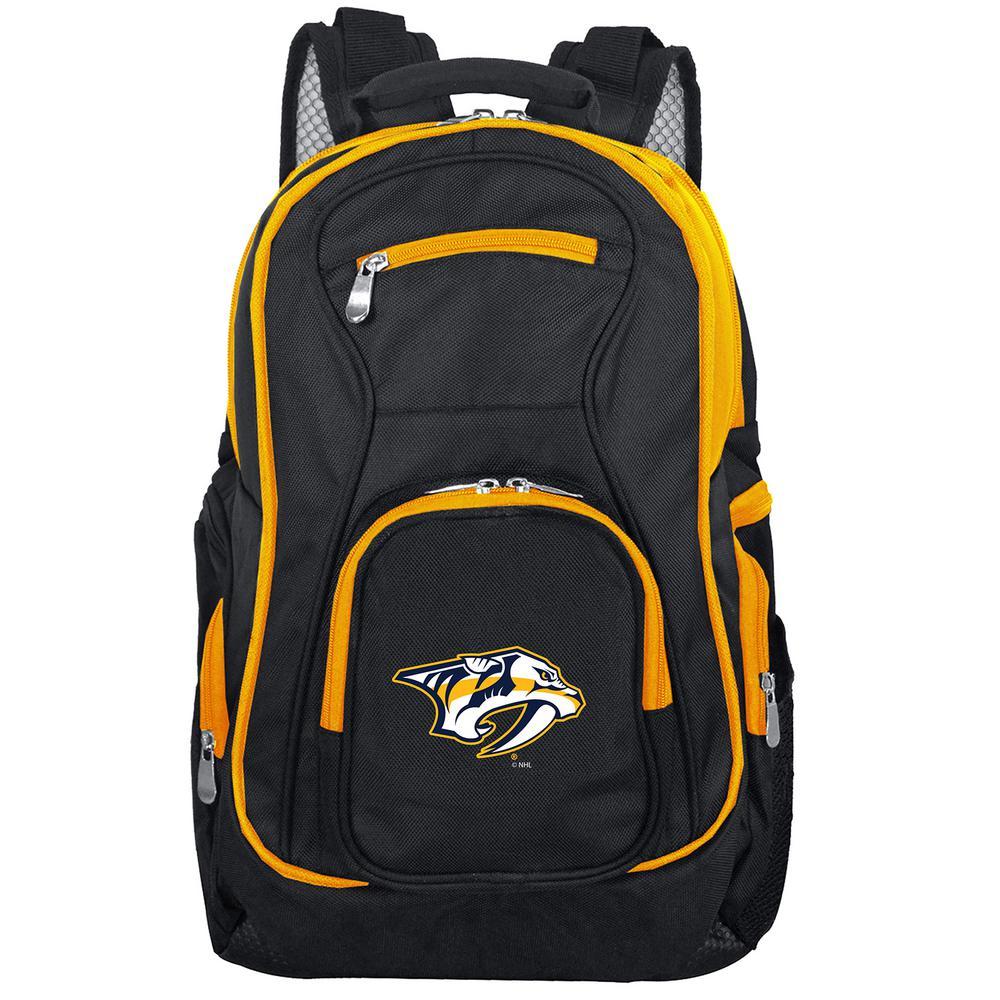 NHL Nashville Predators 19 in. Black Trim Color Laptop Backpack