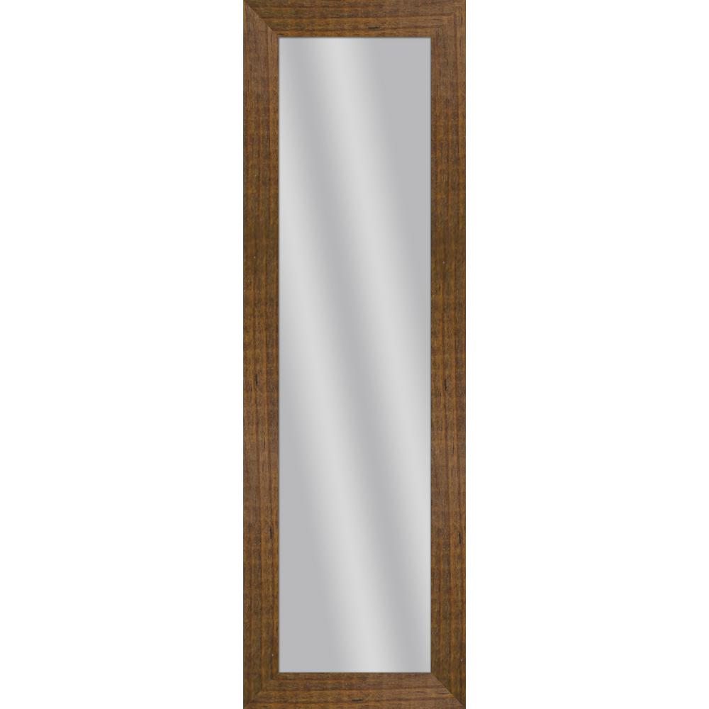 53.5 in. x 17.5 in. Natural Wood Framed Mirror