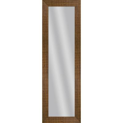 Large Rectangle Natural Wood Art Deco Mirror (53.5 in. H x 17.5 in. W)