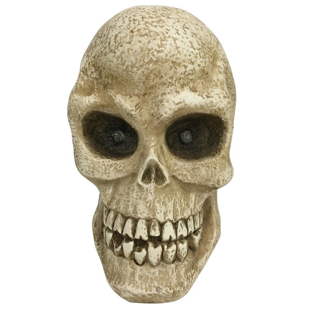 10 in. Halloween Led Lighted Skull