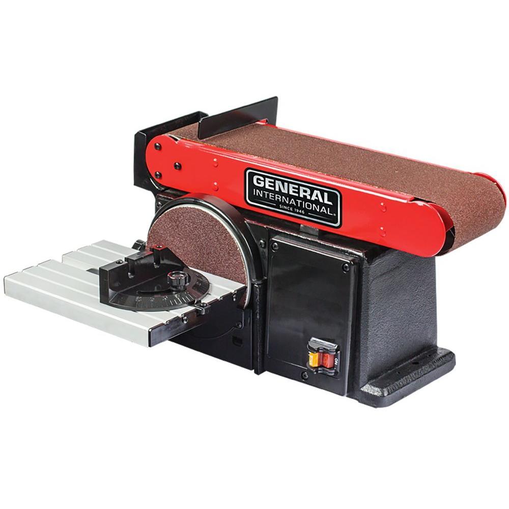 General International 4 inch x 36 inch Belt with 6 inch Disc Sander by General International
