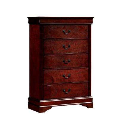 Louis Philippe III Cherry Contemporary Style Chest