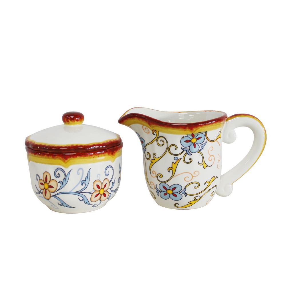 Duomo 2-Piece Creamer and Sugar Bowl Set