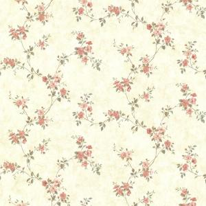 Chesapeake rose valley pink floral trail wallpaper - Floral wallpaper home depot ...