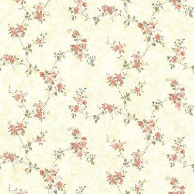Rose Valley Pink Floral Trail Wallpaper