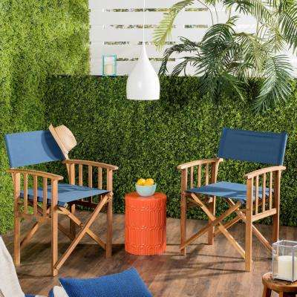 Laguna Dark Green Folding Director's Chair (Set of 2)