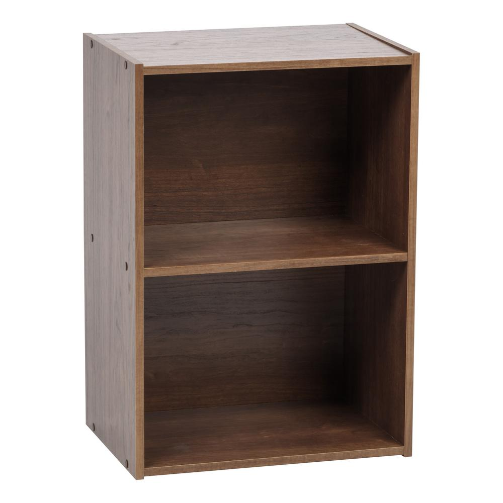 IRIS Brown 2-Tier Wood Storage Shelf