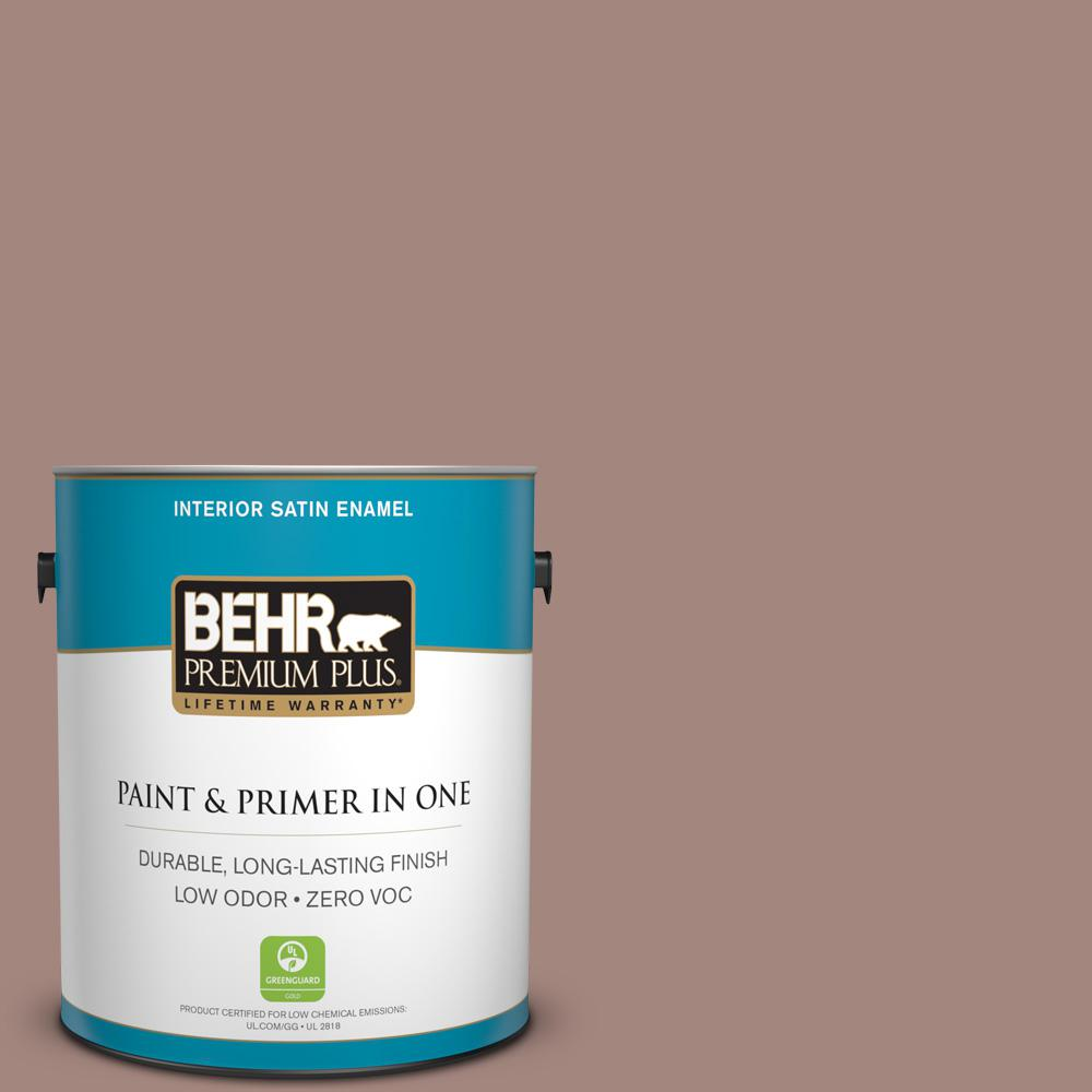 1-gal. #BNC-11 Pink Granite Satin Enamel Interior Paint