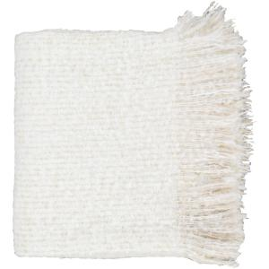 Mudari White Throw Blanket