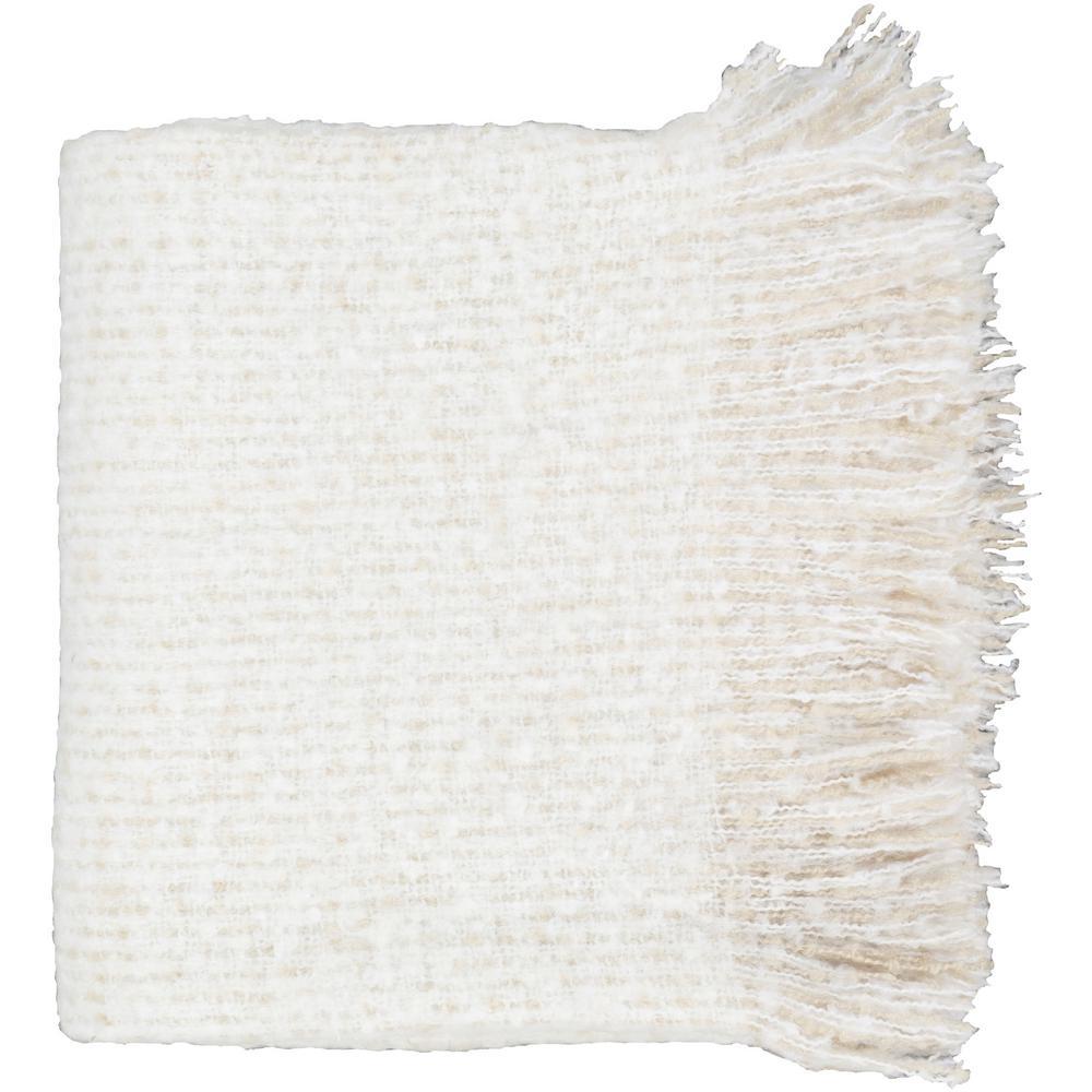 Mudari White Acrylic Throw