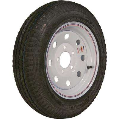 530-12 K353 BIAS 1045 lb. Load Capacity White with Stripe 12 in. Bias Tire and Wheel Assembly