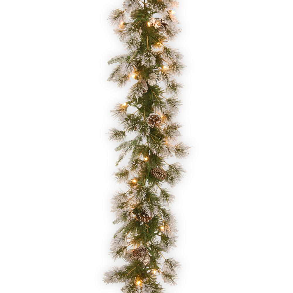 9 ft. Liberty Pine Garland with Clear Lights