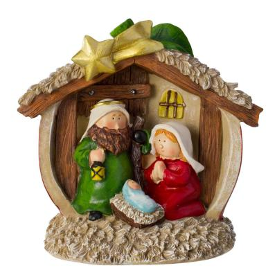 Northlight 7 5 In Christmas Tabletop Children S First Nativity Scene Decoration 33534867 The Home Depot