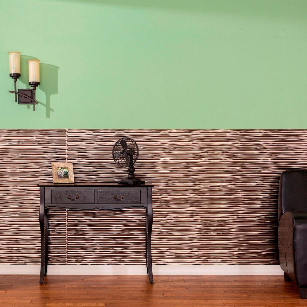 Home Depot Wall Coverings : Fasade in dunes horizontal decorative wall