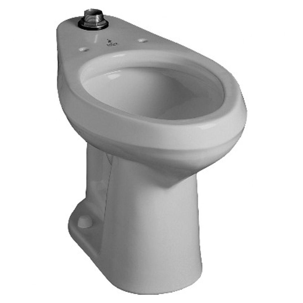 null Hymont Elongated Flush Toilet Bowl Only in White-DISCONTINUED