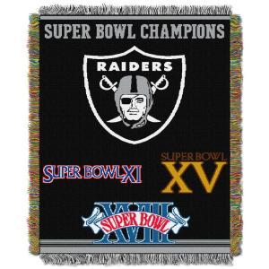 Raiders Multi-Color Tapestry Commemorative Series by
