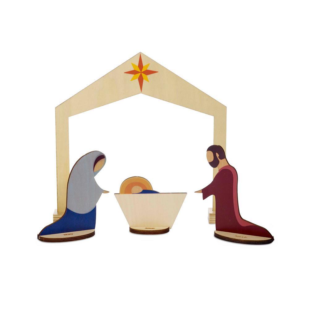 10 in. Christmas Elemental Nativity Set (4-Piece)