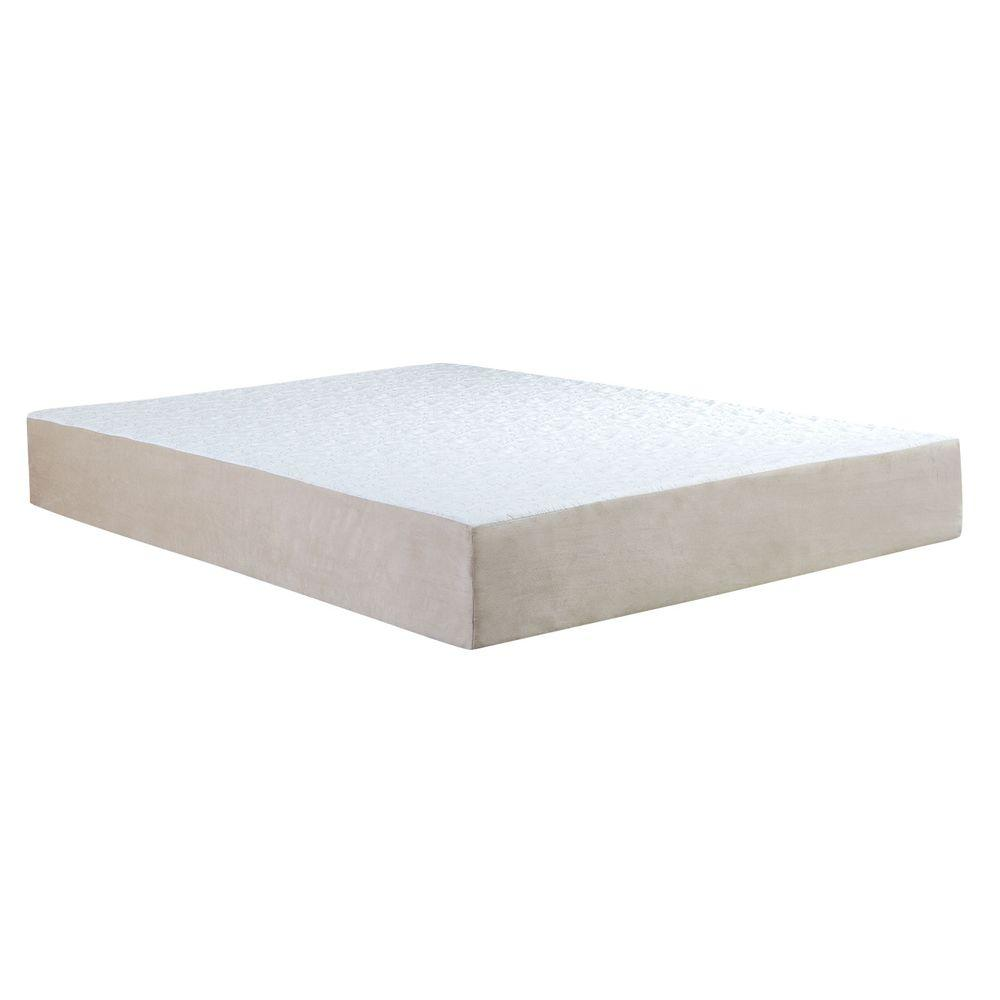 Remedy Natural Pedic Queen Size 10 In Comfort Gel Memory Foam Mattress 64 00014q The Home Depot
