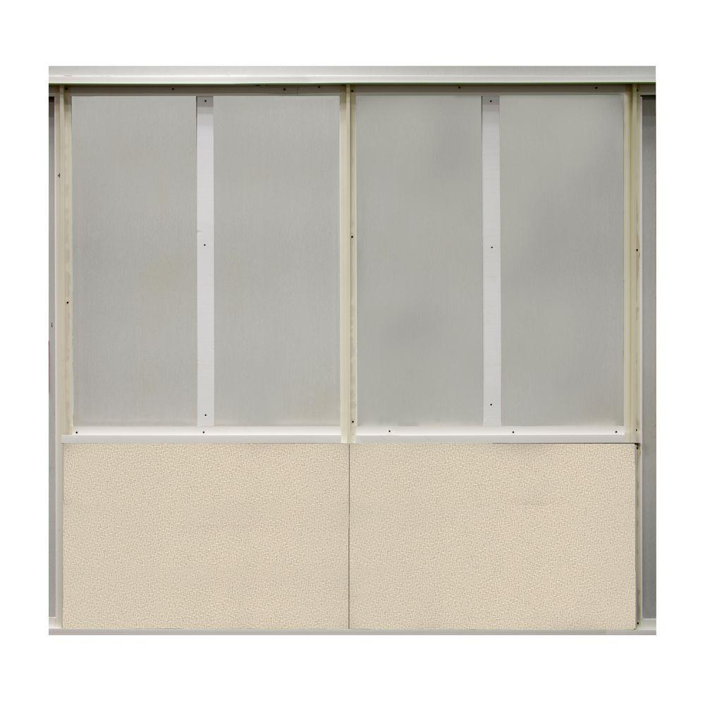 SoftWall Finishing Systems 20 sq. ft. Birch Fabric Covered Bottom Kit Wall Panel