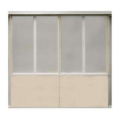 20 sq. ft. Birch Fabric Covered Bottom Kit Wall Panel