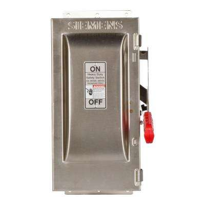 Heavy Duty 30 Amp 240-Volt 2-Pole Type 4X Fusible Safety Switch